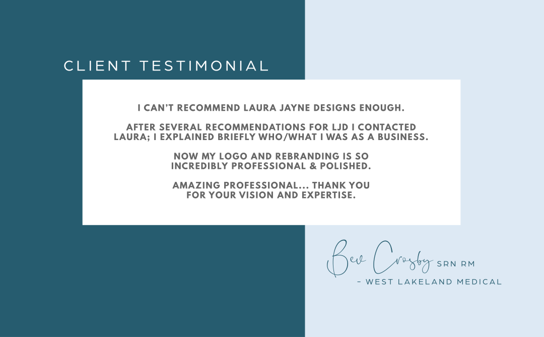 Client Testimonial for Laura Jayne Designs Service