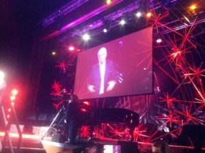 Bruno Giussani introducing me on the stage of TED