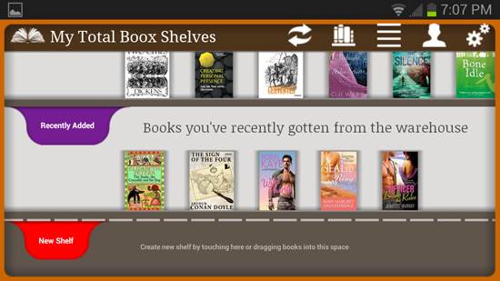 Total BooX shelves on Android