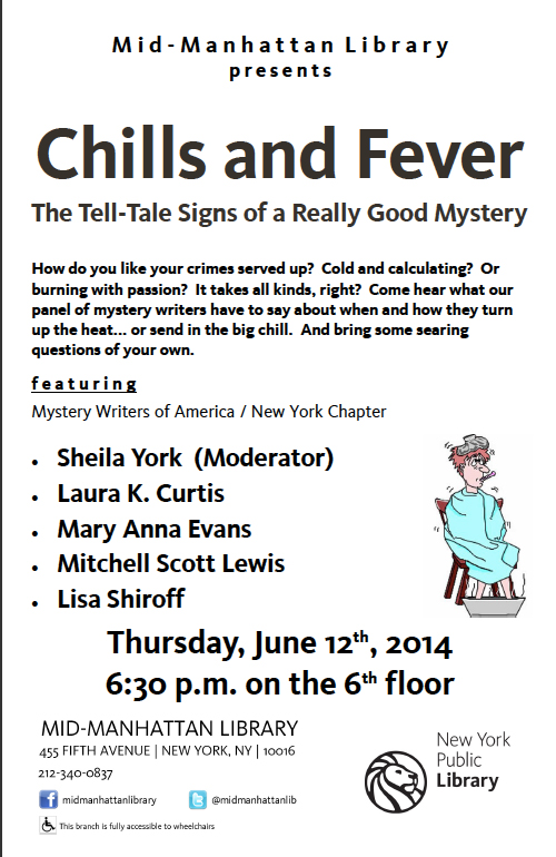 Flyer for Chills and Fever presentation at Mid-Manhattan library