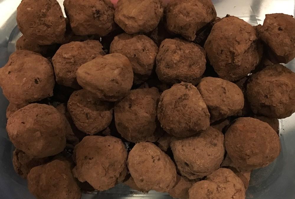 Roasted Garlic Chocolate Truffles