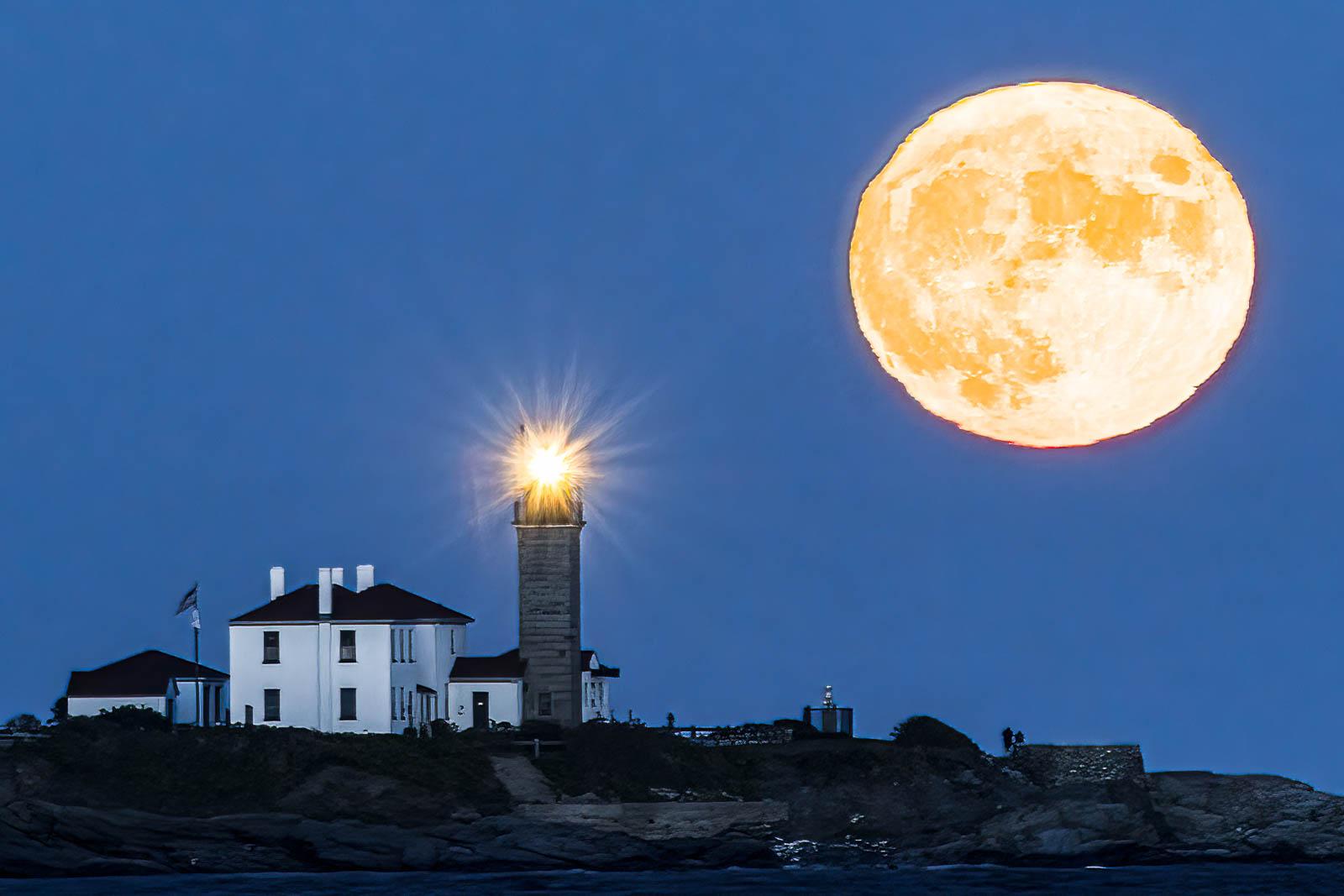 Harvest Moon Over Beavertail
