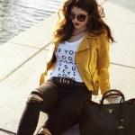 Zara Faux Suede Biker Jacket Fashion Style Laura Lily