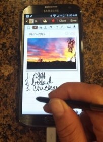You can use the stylus pen to write any note, anywhere, anytime.