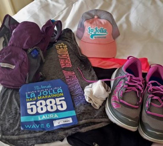 """My race Flat Mama, all laid out the night before. A few weeks before the race, I ran 12 miles. When I came home, someone told Allie how far I had run. Her response? """"Yeah, shes a bit of an overachiever!"""" So, when I saw this shirt, I had to have it! It says, """"#OVERACHIEVER."""""""