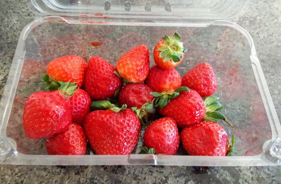 These juicy strawberries didn't last long! There's nothing like strawberries in California! I love that ALDI locally sources their producewhen they can!