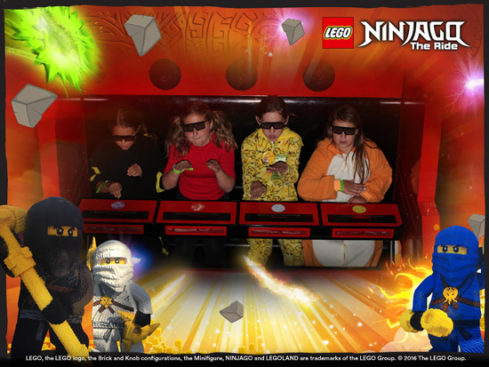 After the costume contest, they rode Ninjago again. So much fun!