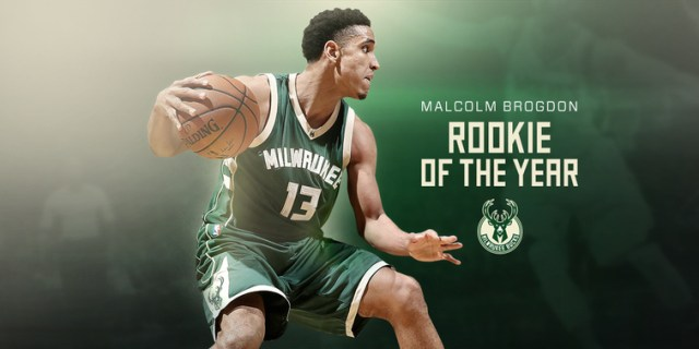 Malcolm Brogdon Rookie of the Year