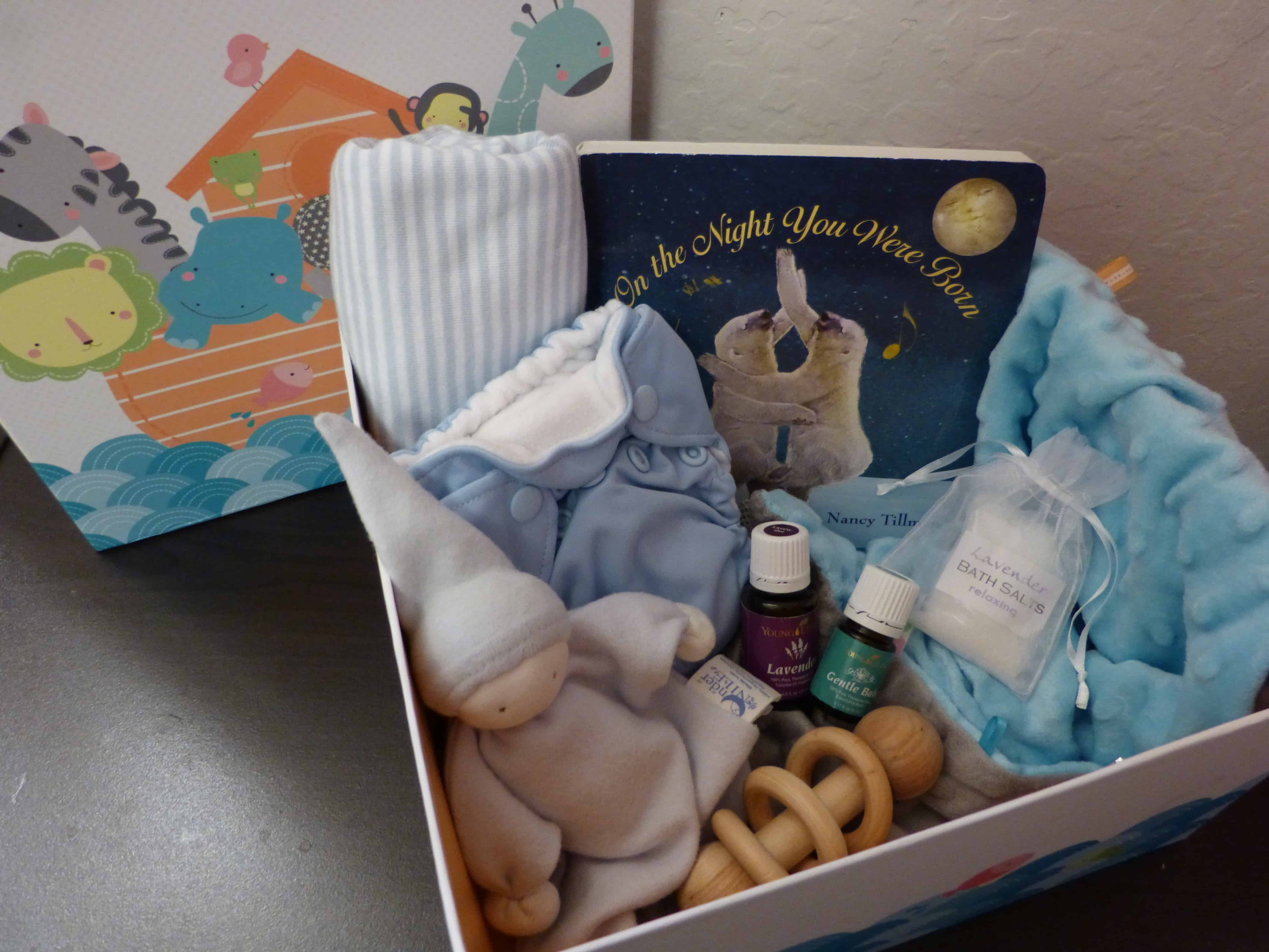 Essential oil baby shower gift basket laura noelle full gift basket negle Image collections