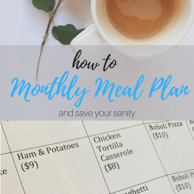 Monthly Meal Planning – Save Time & Your Sanity!