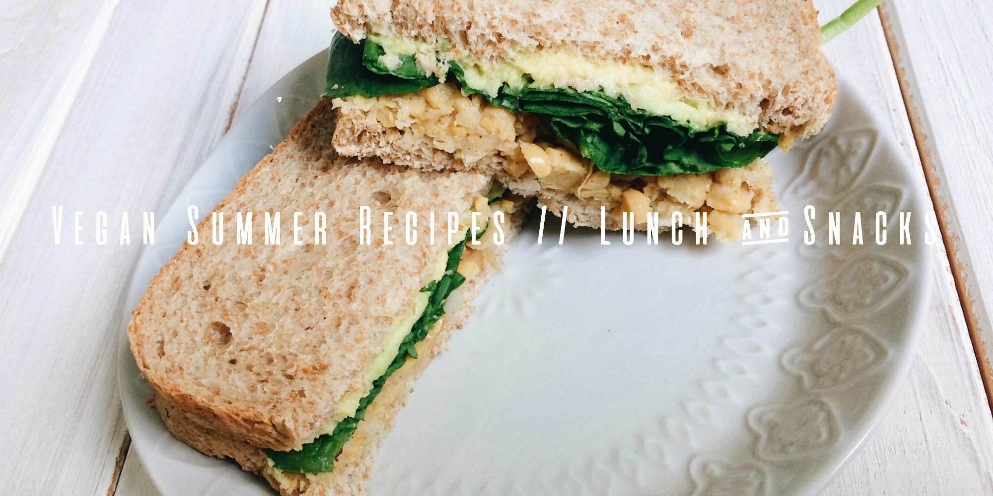 vegan summer recipes banner