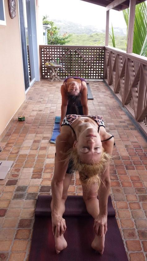 Yoga Travel Tips: Practicing Yoga in Paradise camel pose - lauraregnafitness.com