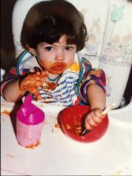 Annabelle with spaghetti