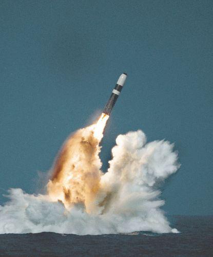 A Trident II missile launch. Public domain photo.