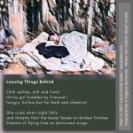 Leaving Things Behind - Golden Shovel Poem