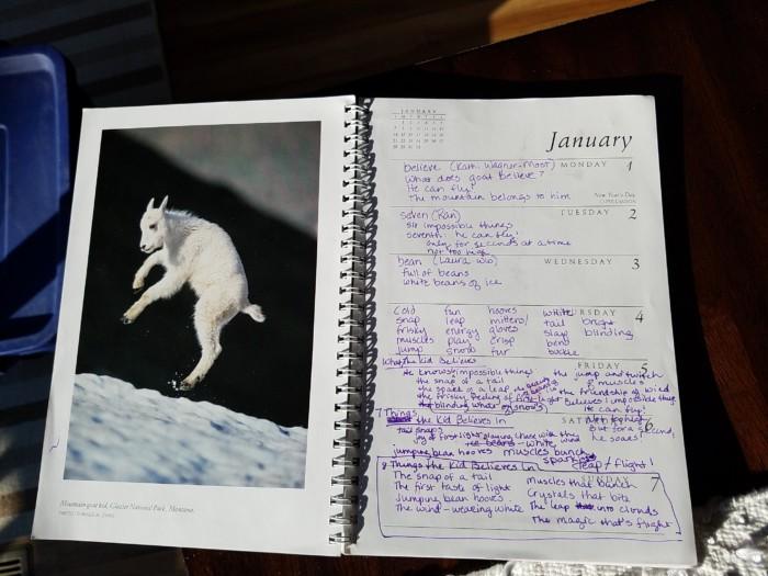 Calendar - goat - 8 Things