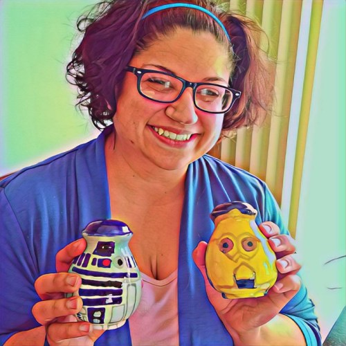 Annabelle with C-3PO and R2-D2