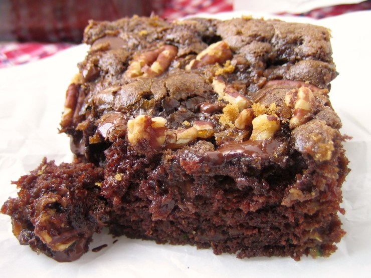 Chocolate Zucchini Cake with Brown Sugar Streusel
