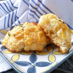 Simple Cheddar Garlic Drop Biscuits Recipe