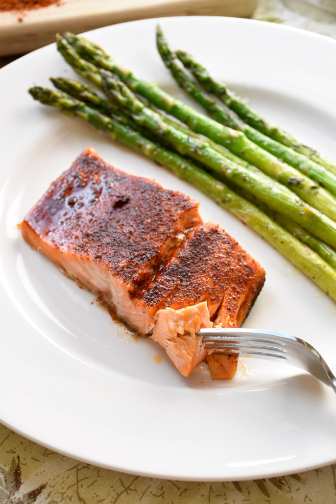 Maple Glazed Chili Salmon