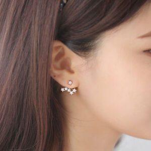 two way star earrings