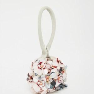 asos big flower clutch bag