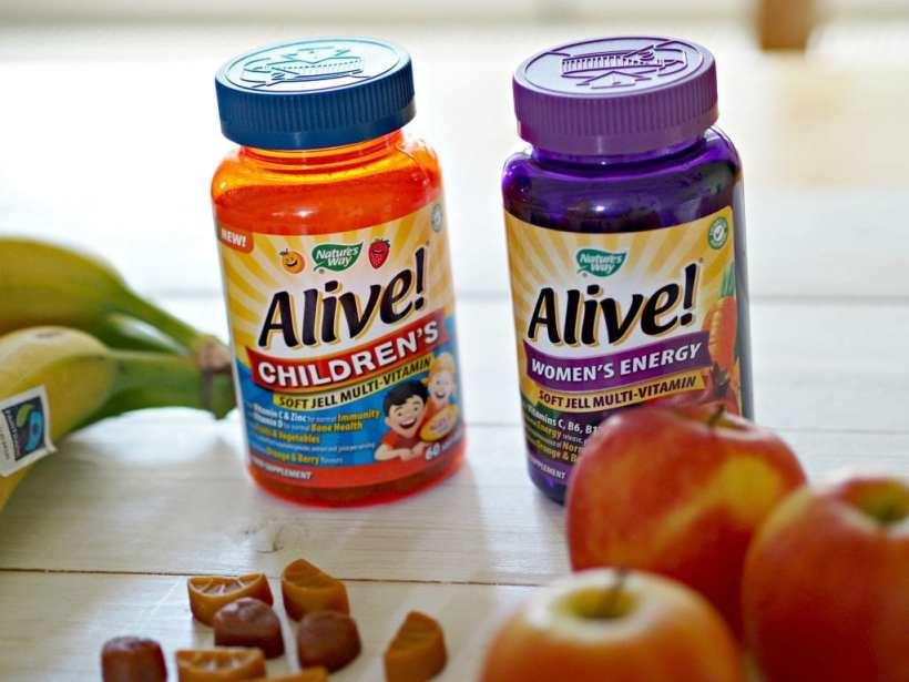 Alive! Children's Multi-vitamins and women's energy