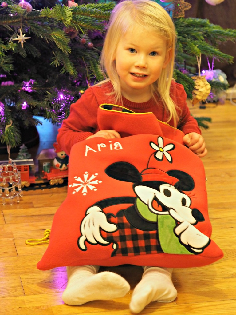 Personalised Stockings with the Disney Store - Aria with personalised stocking