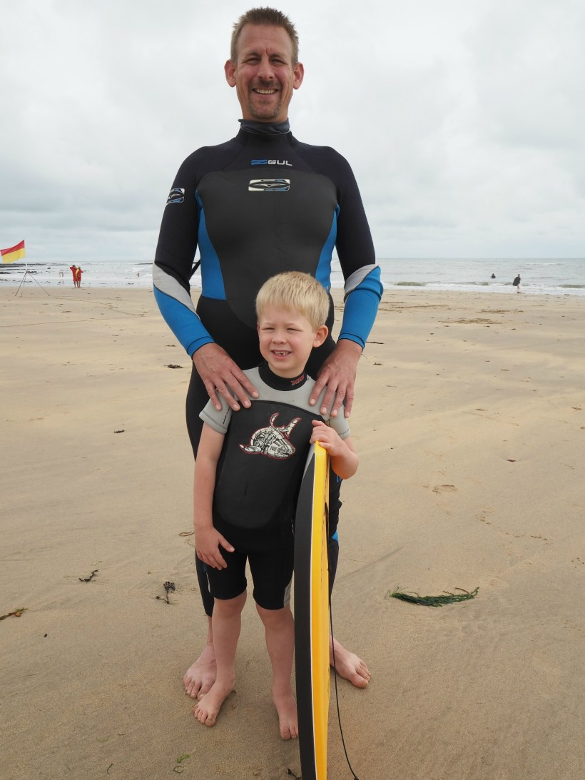 Our Welsh Holiday Highlights - Summer 2018 - Logan surfing