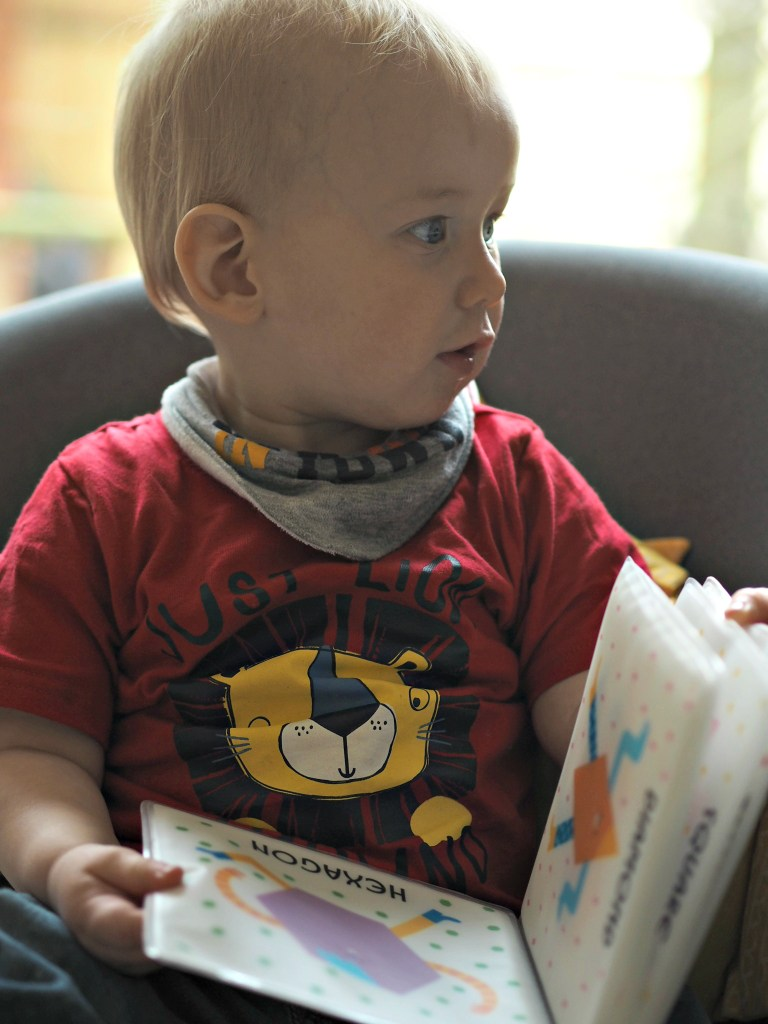Beautiful Board Books for Babies - Bodhi reading bath book