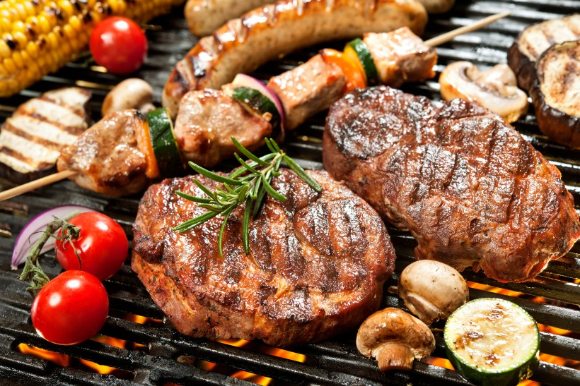 Barbecue and Pollution, What's the Deal? - Assorted delicious grilled meat with vegetable over the coals on a barbecue