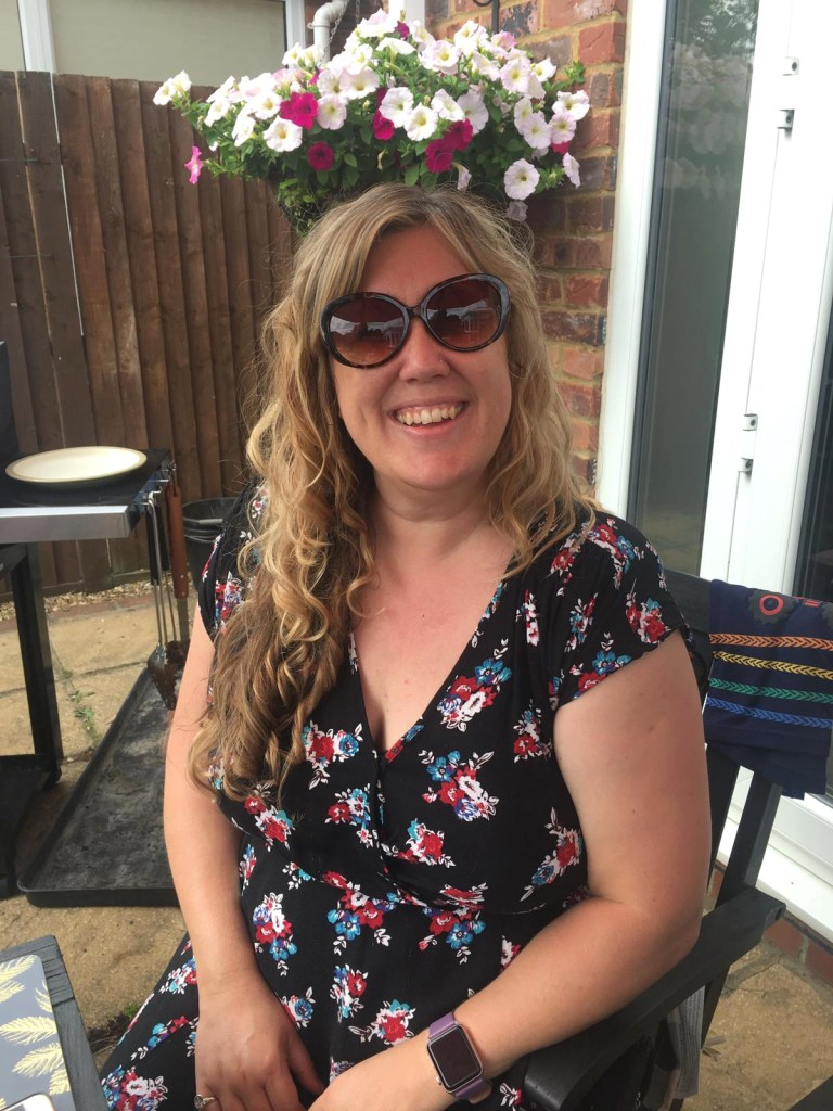 Lovely Things July 2019 - me at Mum and Dad's bbq