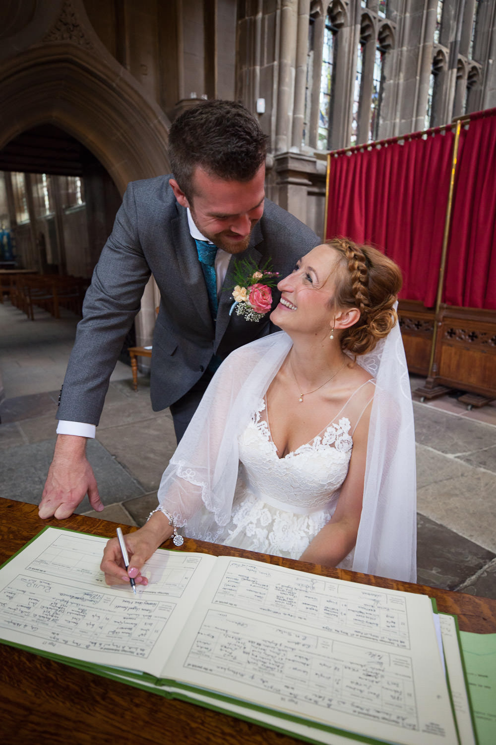 Newly weds at St Mary's Church Wedding Nottingham