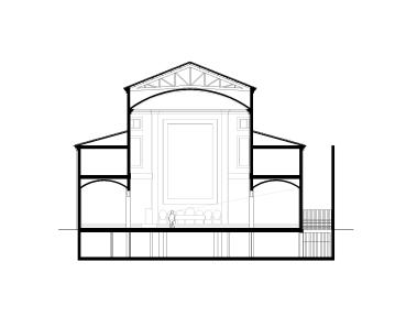 alzados-Sección transversal