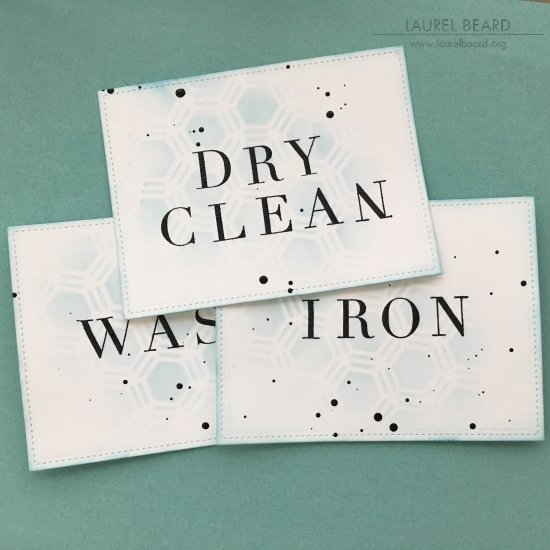 Stenciled Laundry Labels with Laurel Beard 1