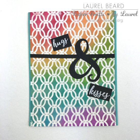 Laurel Beard Handmade Card Catherine Pooler Inks Hugs and Kisses