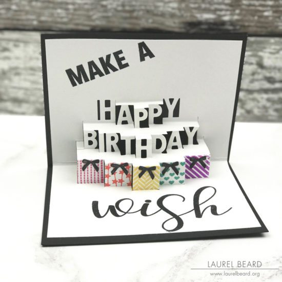 this pop up die is really all you need to create a super fun birthday card picture your recipients face when heshe opens the card and pop - Happy Birthday Pop Up Card