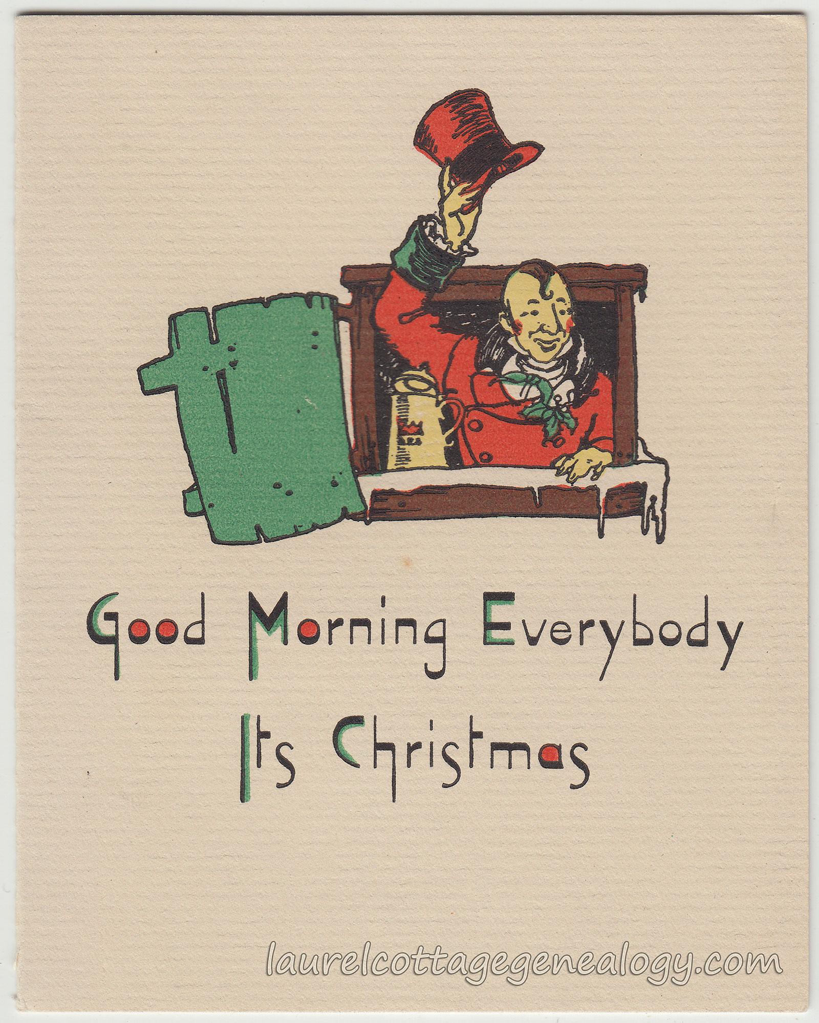 Antique And Vintage Christmas Cards Laurel Cottage Genealogy