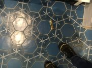 The hotel room floor.