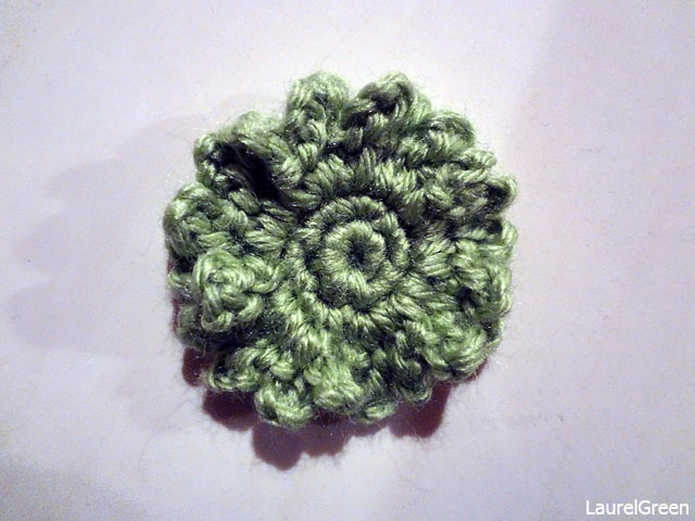 a photo of a crocheted flower