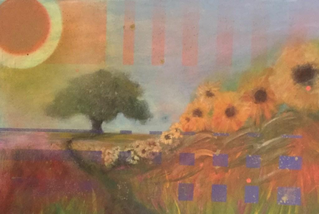 "Painting by Laurel Landers titled ""Yellow Brick Road"""