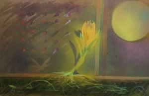 "Painting by Laurel Landers titled ""Beautiful Dreamer"""