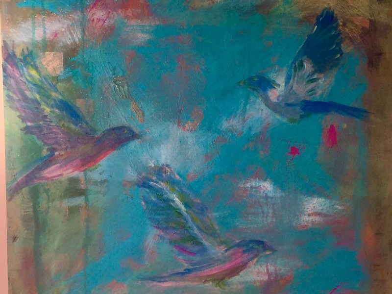 "Painting by Laurel Landers titled ""Birds of Paradise"""