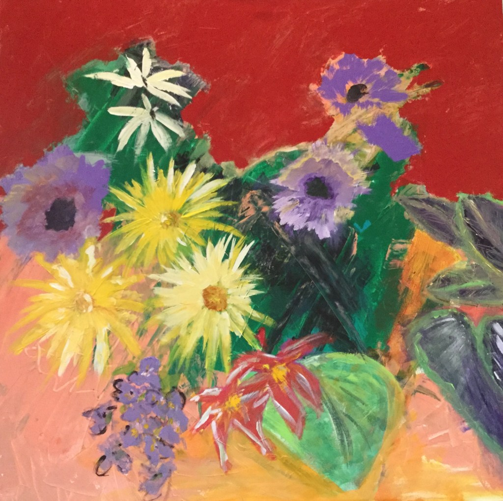 """Painting by Laurel Landers titled """"Summer Bouquet"""""""