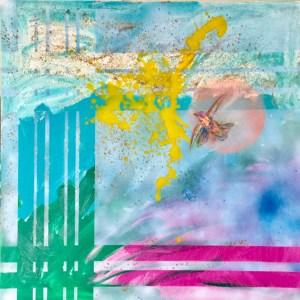 "Painting by Laurel Landers titled ""Yellow Splash"""