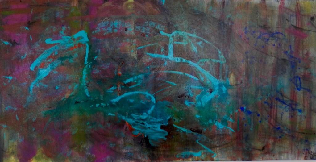 "Painting by Laurel Landers titled ""Blue Note"""