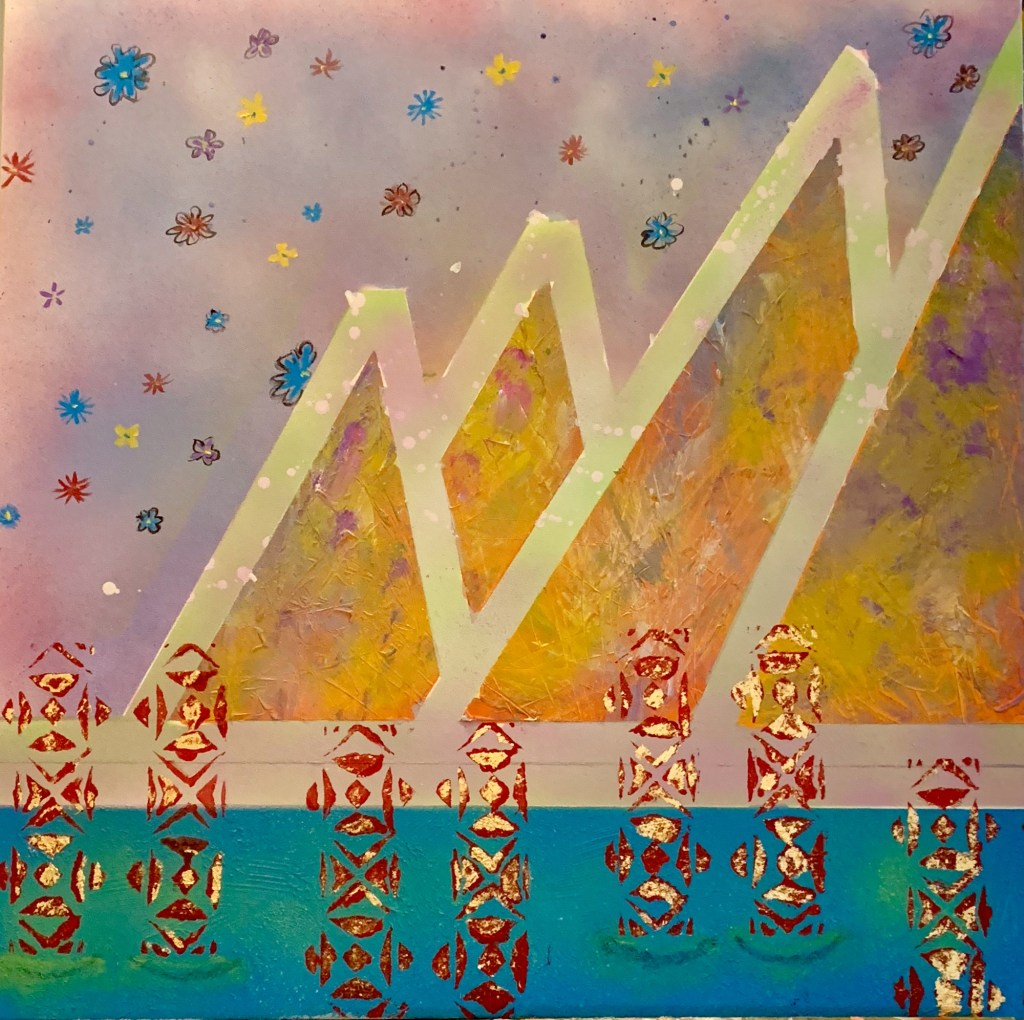 """Painting by Laurel Landers titled """"Magic Mountains"""""""