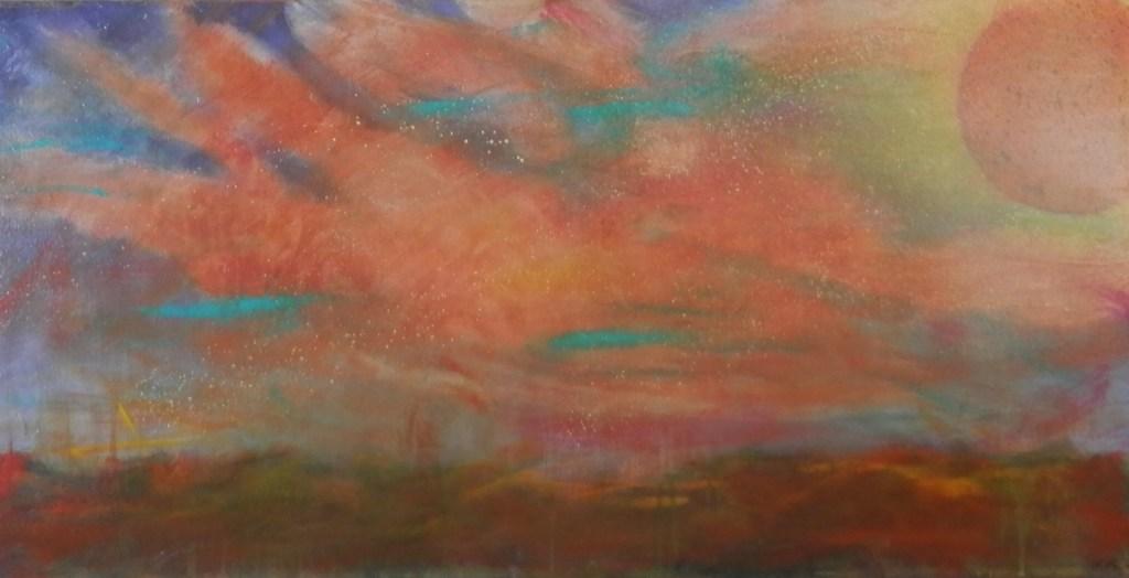 "Painting by Laurel Landers titled ""Sunrise Sunset"""