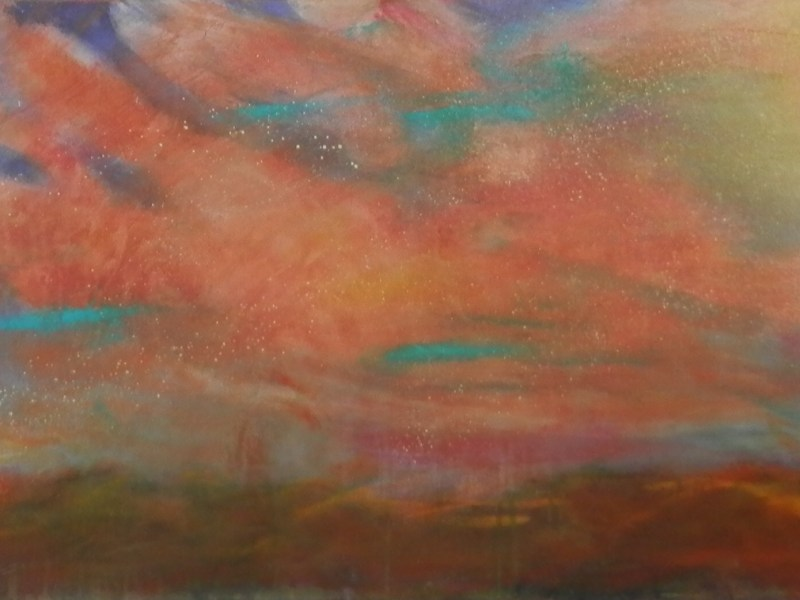"Painting by Laurel Landers titled ""Sunrise Sunset"""
