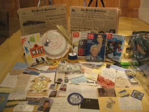 Example of items found in  a 30-year-old time capsule that was put together by the 1980